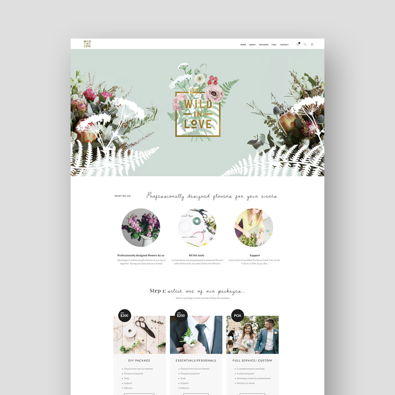 Wild in Love Web Site Design